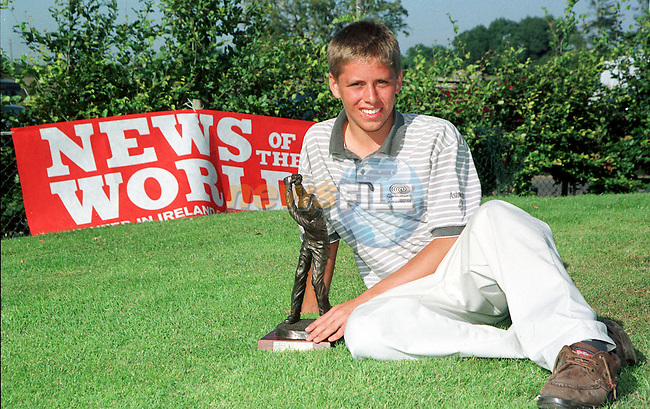 RONAN GORMLEY WINNER OF THE NEWS OF THE WORLD JUNIOR GOLF.PIC FRAN CAFFREY / NEWSFILE.STORY COLIN KERR