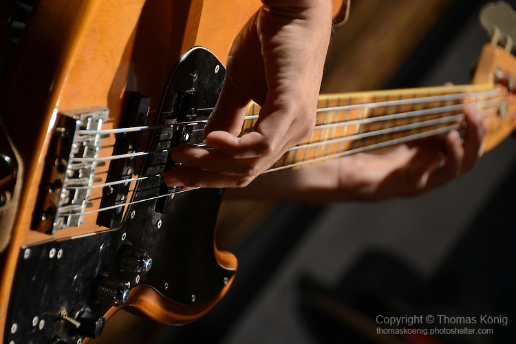 DC Stage, Kaohsiung -- Close-up of bass guitar.