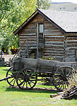 Buckboard wagon is a four wheeled wagon drawn by a horse,Nevada City Montana,  Nevada City is an old placer mining camp near Virginia City Montana, Gold was discovered in Alder Gulch 1863, ghost town, Fine Art Photography by Ron Bennett, Fine Art, Fine Art photo, Art Photography,