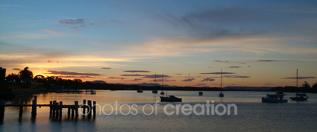 Colours of Sunset,Hastings River, Hibbard,Port Macquarie NSW