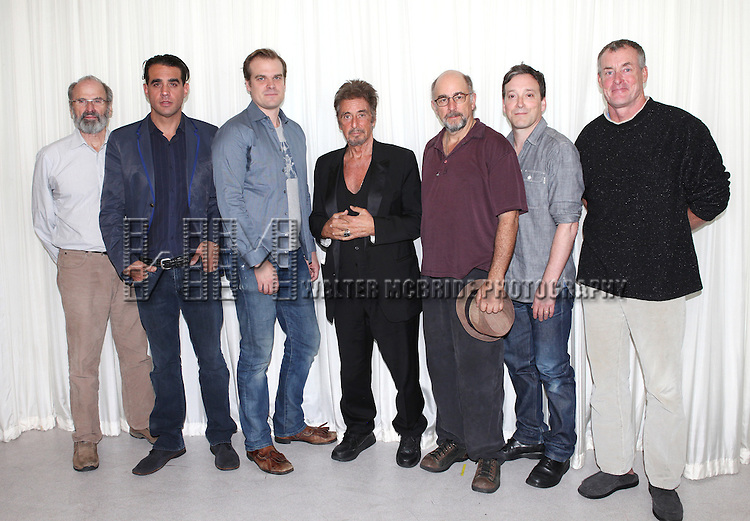 Director Daniel Sullivan, Bobby Cannavale, David Harbour, Al Pacino, Richard Schiff, Jeremy Shamos & John C. McGinley attending the 'Glengarry Glen Ross' Media Day at Ballet Hispanico Rehearsal Studios in New York City on 9/19/2012.