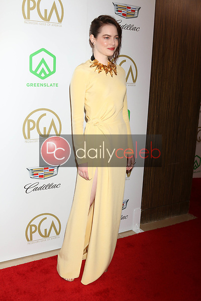 Emma Stone<br /> at the 2019 Producer's Guild Awards, Beverly Hilton Hotel, Beverly Hills, CA 01-19-19<br /> David Edwards/DailyCeleb.com 818-249-4998