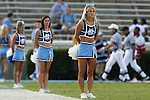 16 September 2006: UNC cheerleaders line up along the sideline before the game. The University of North Carolina Tarheels defeated the Furman University Paladins 45-42 at Kenan Stadium in Chapel Hill, North Carolina in an NCAA College Football game.