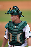 Dartmouth Big Green catcher Adam Gauthier (18) during a game against the South Florida Bulls on March 27, 2016 at USF Baseball Stadium in Tampa, Florida.  South Florida defeated Dartmouth 4-0.  (Mike Janes/Four Seam Images)