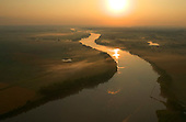 Oxbows and Missouri River at Sunrise