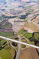 Deutschland, Schleswig-Hostein, Autobahnkreuz, A1, A20, Luebeck