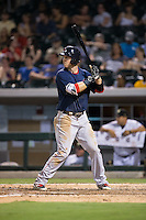 Brennan Boesch (23) of the Pawtucket Red Sox at bat against the Charlotte Knights at BB&T BallPark on July 6, 2016 in Charlotte, North Carolina.  The Knights defeated the Red Sox 8-6.  (Brian Westerholt/Four Seam Images)