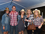Tracy Gillispie, Karen Lynch, Debbie Breen, Peter Dooley and Aisling Connolly pictured at the barn dance at Oberstown farm. Photo:Colin Bell/pressphotos.ie