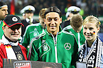 29.02.2012, Weser Stadion, Bremen, nph00045, JI1F6493, im Bild Mesut Oezil (8, Deutschland) bei der Ehrenverleihung<br /> <br /> // during the Match nph00045, JI1F6493,  Weser Stadion, Bremen, Germany, on 2012/02/29<br /> Foto © nph / Sielski *** Local Caption ***