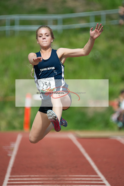 Eagle River's Dreanna Owens placed fourth in the long jump of the State Track and Field championships Saturday, May 28, 2016.