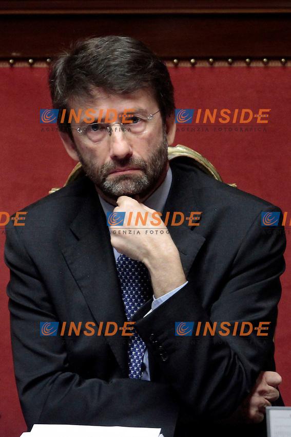 Renato Franceschini.Roma 21/05/2013 Senato. Il Premier riferisce al Senato sul consiglio UE..Italian Premier's speech at the Senate about UE..Photo Samantha Zucchi Insidefoto