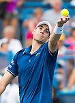 John Isner (USA) defeats Marcos Baghdatis (CYP) in the Quarterfinals of the Citi Open in Washington, DC on August 2, 2013.
