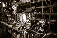 Tack Room at the Flying W Ranch in the Flint Hills of Kansas.