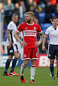 9th September 2017, Macron Stadium, Bolton, England; EFL Championship football, Bolton Wanderers versus Middlesbrough; Adam Clayton of Middlesbrough looks on