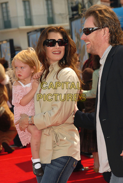 "BROOKE SHIELDS, DAUGHTER ROWAN FRANCIS & CHRIS HENCHY.Red Carpet arrivals at The DreamWorks's Los Angeles Premiere of ""Over the Hedge"" held at The Mann Village Theatre in Westwood, California, USA,.April 30th 2006..half length family mother mom mum child kid sunglasses.Ref: DVS.www.capitalpictures.com.sales@capitalpictures.com.©Debbie VanStory/Capital Pictures"