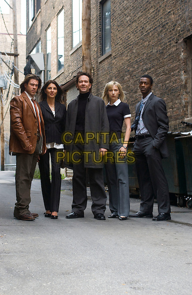 CHRISTIAN KANE, GINA BELLMAN, TIMOTHY HUTTON, BETH RIESGRAF & ALDIS HODGE.in Levrage.(Season 1, Episode 1: The Nigerian Job).*Filmstill - Editorial Use Only*.CAP/FB.Supplied by Capital Pictures.