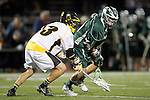 Placentia, CA 05/14/10 - Nick Kos (Foothill # 13) and Marcus Egeck (MC # 9) in action during the Mira Costa vs Foothill boys lacrosse game for the 2010 Los Angeles / Orange County CIF Championship.
