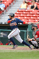 July 20th 2008:  Shortstop Diory Hernandez of the Richmond Braves, Class-AAA affiliate of the Atlanta Braves, during a game at Dunn Tire Park in Buffalo, NY.  Photo by:  Mike Janes/Four Seam Images