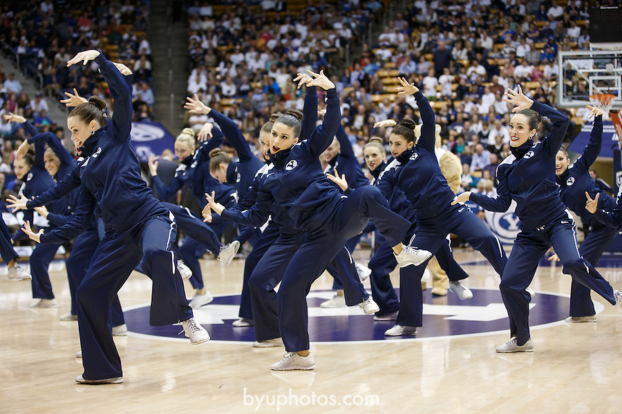 {filename base}<br /> <br /> 1311-09 Cougarettes BKB Performance, dance<br /> <br /> @ BYU vs Weber State<br /> <br /> November 8, 2013<br /> <br /> Photo by Jaren Wilkey/BYU<br /> <br /> © BYU PHOTO 2013<br /> All Rights Reserved<br /> photo@byu.edu  (801)422-7322<br /> <br /> Photo by Mark A. Philbrick/BYU<br /> <br /> © BYU PHOTO 2013<br /> All Rights Reserved<br /> photo@byu.edu  (801)422-7322