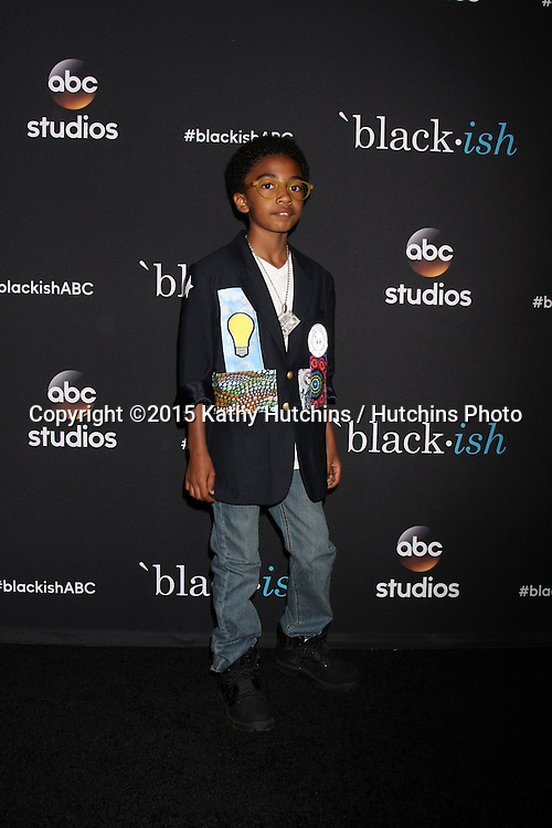 """LOS ANGELES - FEB 17:  Miles Brown at the """"Black-ish"""" ATAS event at the Silver Screen Theater at Pacific Design Center on April 17, 2015 in Los Angeles, CA"""