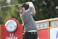 Duncan Stewart (SCO) tees off the 16th tee during Sunday's Final Round of the 2017 Omega European Masters held at Golf Club Crans-Sur-Sierre, Crans Montana, Switzerland. 10th September 2017.<br /> Picture: Eoin Clarke | Golffile<br /> <br /> <br /> All photos usage must carry mandatory copyright credit (&copy; Golffile | Eoin Clarke)