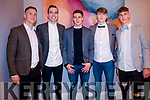 Fashion Extravaganza in Kenmare Bay Hotel held on Saturday 17th November organised by Templenoe GAA. <br /> <br /> L-R: Gavin Crowley, Cian Hallissey, Brian Crowley, Patrick Clifford and Colin Crowley