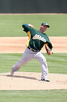 Ben Sheets, Oakland Athletics, pitching in a AAA spring training game against the San Francisco Giants AAA team at Papago Park, Phoenix, AZ - 03/25/2010..Photo by:  Bill Mitchell/Four Seam Images.
