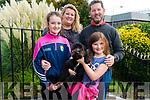 Amy, Marion, Ronan and Isabel Doyle from Killarney pictured with their dog Dash at the Animals Blessing in the Franciscans Friary Church, Killarney last Sunday.
