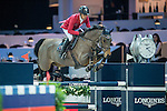 Pius Scwhizer of Switzerland riding on PSG Future competes during the EEM Trophy, part of the Longines Masters of Hong Kong on 10 February 2017 at the Asia World Expo in Hong Kong, China. Photo by Juan Serrano / Power Sport Images