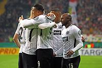 Torjubel Eintracht beim 2:0 - 07.02.2018: Eintracht Frankfurt vs. 1. FSV Mainz 05, DFB-Pokal Viertelfinale, Commerzbank Arena