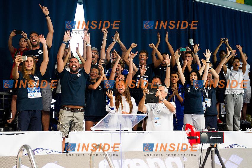 Team Italy ITA<br /> 4X100 Medley Mixed relay Final Gold Medal<br /> LEN 43rd Arena European Junior Swimming Championships<br /> Hodmezovasarhely, Hungary <br /> Day04 09-07-2016<br /> Photo Andrea Masini/Deepbluemedia/Insidefoto
