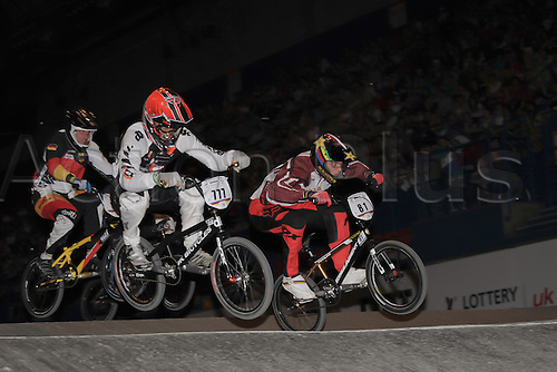 05.26.2012. England, Birmingham, National Indoor Arena. UCI BMX World Championships. Marc WILLERS in action for New Zealand alongside Maris STROMBERGS at the NIA