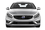 Car photography straight front view of a 2018 Volvo S60 R-Design 4 Door Sedan Front View