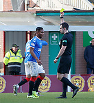 15.12.2019 Motherwell v Rangers: Alfredo Morelos gets his first booking