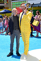 Patrick Stewart &amp; TJ Miller at the world premiere for &quot;The Emoji Movie&quot; at the Regency Village Theatre, Westwood. Los Angeles, USA 23 July  2017<br /> Picture: Paul Smith/Featureflash/SilverHub 0208 004 5359 sales@silverhubmedia.com