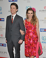 Cameron Holloway and Emma Samms at the Football For Peace Initiative Dinner by Global Gift Foundation, Corinthia Hotel, Whitehall Place, London, England, UK, on Monday 08th April 2019.<br /> CAP/CAN<br /> ©CAN/Capital Pictures