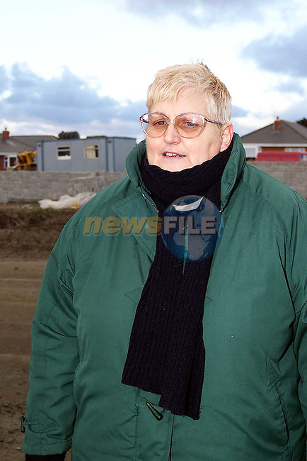 Deirdre Delaney, O'Donnell Park, Clogherhead protests about the condition of the roads in Clogherhead.