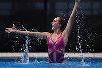 Eva Morris (Tauranga Synchro). Day One of the 2018 North Island Synchronised Swimming Championships at Wellington Regional Aquatics Centre in Wellington, New Zealand on Saturday, 19 May 2018. Photo: Dave Lintott / lintottphoto.co.nz