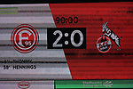 03.11.2019, Merkur Spielarena, Duesseldorf , GER, 1. FBL,  Fortuna Duesseldorf vs. 1. FC Koeln,<br />  <br /> DFL regulations prohibit any use of photographs as image sequences and/or quasi-video<br /> <br /> im Bild / picture shows: <br /> Endstand 2:0<br /> <br /> Foto © nordphoto / Meuter