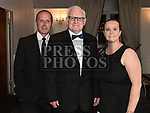 Fr Jim Dunleavy and Colin and Sarah Maher at the Dominican Ball in the Westcourt hotel. Photo:Colin Bell/pressphotos.ie