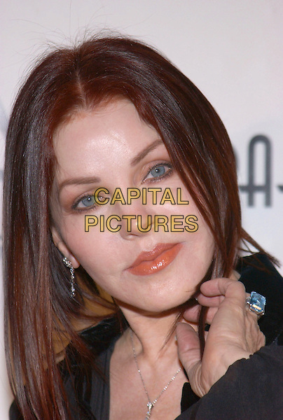PRISCILLA PRESLEY.3rd Annual Cabaret of Dreams to benefit the Dream Foundation held at the Park Plaza Hotel..November 4th, 2004.headshot, portrait, blue ring, jewellery.www.capitalpictures.com.sales@capitalpictures.com.© Capital Pictures.