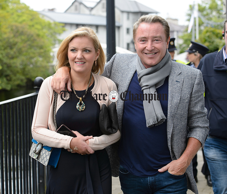 Michael Flatley and his wife Niamh following the official opening of the All-Ireland Fleadh 2017 in Ennis. Photograph by John Kelly.