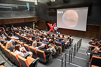 """Christopher Oze, Associate Professor, Geology, """"Changing the Concrete Paradigm.""""<br /> Occidental College hosts TEDxOccidentalCollege on April 21, 2018 in Choi Auditorium of Johnson Hall. Students, faculty, alums and guest speakers delivered their TEDx Talk on the theme, Shifting Ecosystems of Power.<br /> (Photo by Marc Campos, Occidental College Photographer)"""