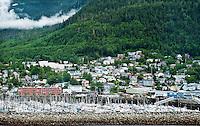 Shipping and loading dock, Ketchikan, AK, Alaska, USA.