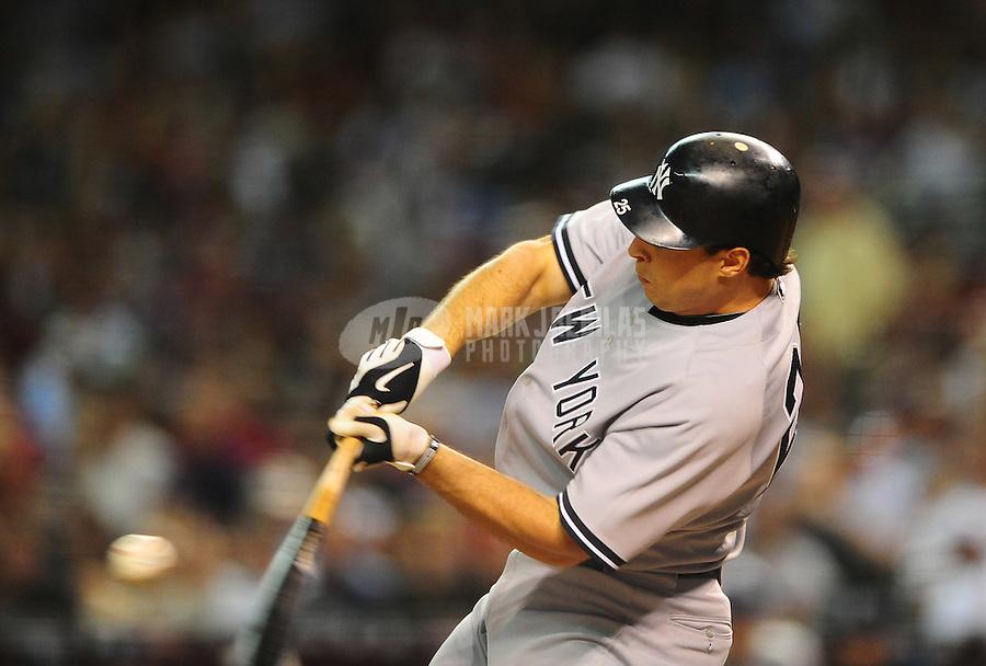 Jun. 21, 2010; Phoenix, AZ, USA; New York Yankees first baseman Mark Teixeira against the Arizona Diamondbacks at Chase Field. The Diamondbacks defeated the Yankees 10-4. Mandatory Credit: Mark J. Rebilas-