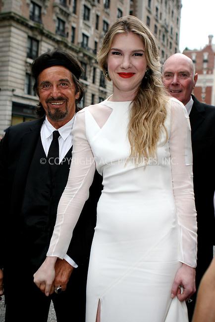 WWW.ACEPIXS.COM . . . . .  ....June 12 2011, New York City....Al Pacino and Lily Rabe arriving at the 65th Annual Tony Awards at the Beacon Theatre on June 12, 2011 in New York City.....Please byline: NANCY RIVERA- ACEPIXS.COM.... *** ***..Ace Pictures, Inc:  ..Tel: 646 769 0430..e-mail: info@acepixs.com..web: http://www.acepixs.com