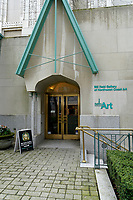 Entrance to the Bill Reid Gallery of Northwest Coast Art in downtown, Vancouver, British Columbia, Canada