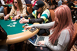 Melanie Weisner playing Ladies Event 70 and WSOP.com Event 71