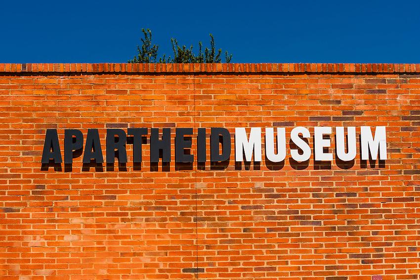 Exterior view, Apartheid Museum, Johannesburg, South Africa.
