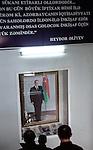 Baku - Azerbaijan - 17 December 2014 -- Azerbaijan State Marine Academy. -- Former president's photo in the stairway of the academy. -- PHOTO: Sitara Ibrahimova / EUP-IMAGES